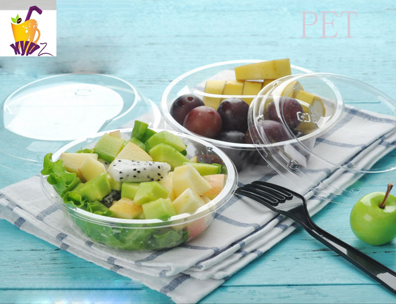 Pet Clear Heart-Shaped Fruit Salad Blister Box