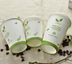 100% Compostable Biodegradable PLA Coffee Paper Cups