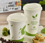 100% Biodegradable PLA Coffee Paper Cups