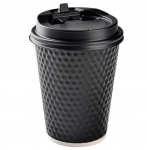 Disposable Custom Printed Hexagon Paper Cup with Lid
