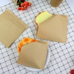 Tin Top Tied Coffee Nut Dough Bread Kraft Paper Bag