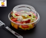 wholesale black color pet plastic fruit packaging salad box